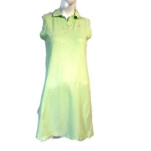 Lily Pulitzer Polo style Shirt dress Green Pink S